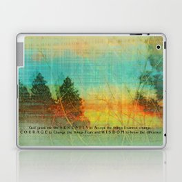 Serenity Prayer Colorful Trees Laptop & iPad Skin