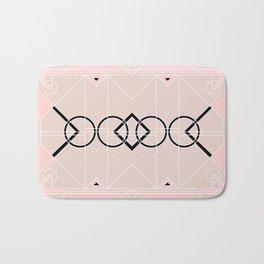 Art Deco - Neutral Pink Bath Mat
