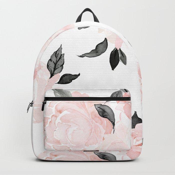 Vintage Blush Floral - BW Rucksack