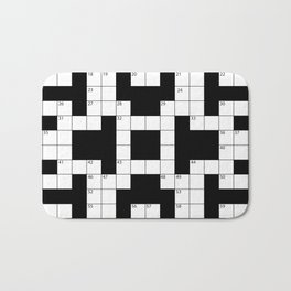 Cool Crossword Pattern Bath Mat