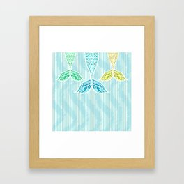 Mermaids and Stripes Framed Art Print