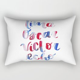 Love Red White and Blue Rectangular Pillow