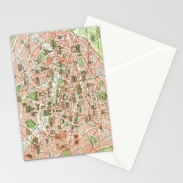 Vintage Map of Paris (1920) Stationery Cards