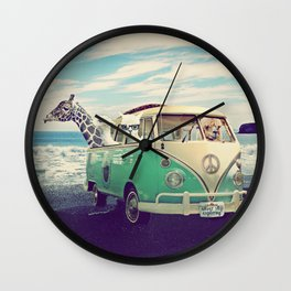 NEVER STOP EXPLORING THE BEACH Wall Clock
