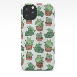 Cacti Cat pattern iPhone Case