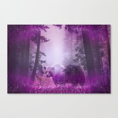 Fairy bear out of the woods Canvas Print