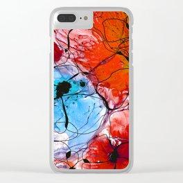 Red Flower Art - Wild Flowers - Sharon Cummings Clear iPhone Case