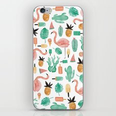 Flamingo Love iPhone Skin
