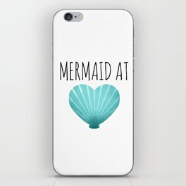 Mermaid At Heart  |  Teal iPhone Skin
