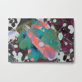 Abstract Acidic Flower Metal Print