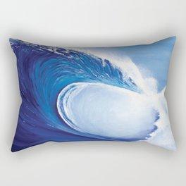 Ocean Wave Painting Rectangular Pillow
