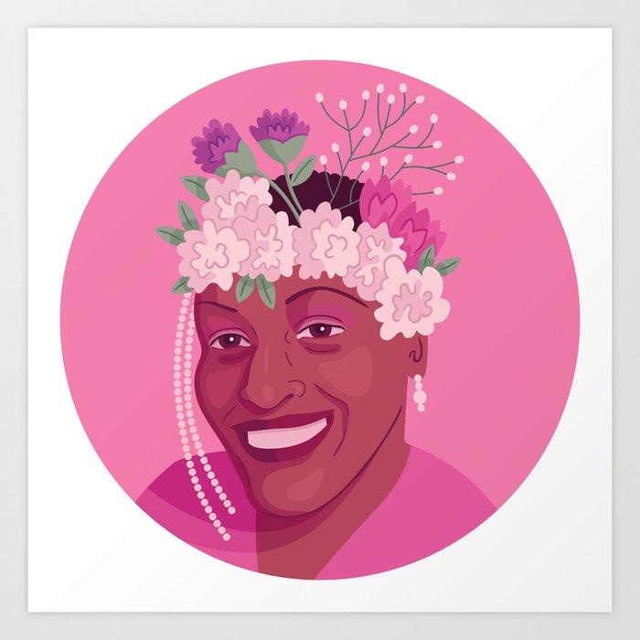 Queer Portrait - Marsha P. Johnson Art Print