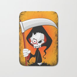 Grim Reaper Creepy Cartoon Character Bath Mat
