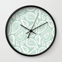 Paisley blue. Wall Clock