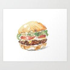 A burger Art Print