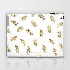 Gold Pineapples Laptop & iPad Skin