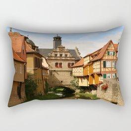 Medieval Village Reflection Rectangular Pillow