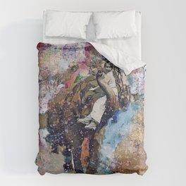 Elephant Painting Duvet Cover