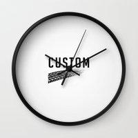 custom Wall Clocks featuring Custom Art by Narwhal Designs