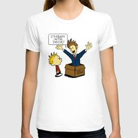 calvin hobbes T-shirts featuring Calvin and the Doctor by sugarpoultry