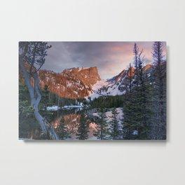 Moody Daybreak at Dream Lake Metal Print