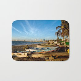 Mazatlan Beach & Boats Bath Mat