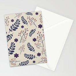 Dark plant pattern Stationery Cards