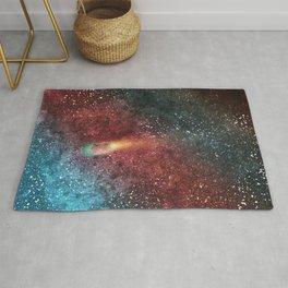 Comet Through Space in Watercolor Rug