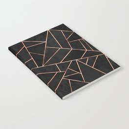 Velvet Black & Rose Gold Notebook