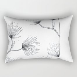 Flower Sketch Rectangular Pillow