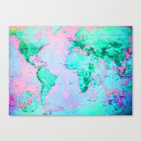 wanderlust Canvas Prints featuring Wanderlust by ALLY COXON