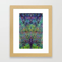Con-Tici Cosmogenesis (abstract, psychedelic, visionary) Framed Art Print