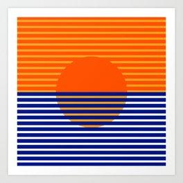 Orange Split Sun Art Print