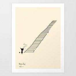 STAIRS / Borderline Bill Art Print