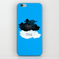 tfios iPhone & iPod Skins featuring TFIOS Okay clouds by digital detours