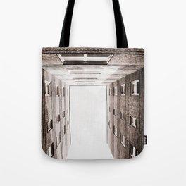 New York City Brown Brick Apartment Building, NYC Urban Queens Tote Bag