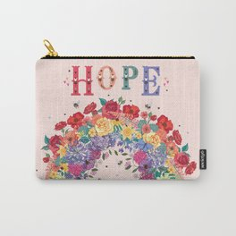 Rainbow Blooms of Hope Carry-All Pouch