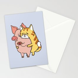 Friend Not Food Cat Stationery Cards