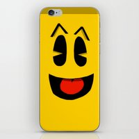 pacman iPhone & iPod Skins featuring Pacman  by Valiant