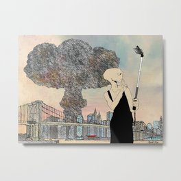 Selfie at New York City Metal Print
