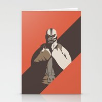 bane Stationery Cards featuring Bane by Florey