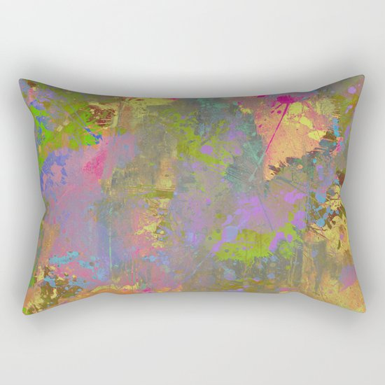 Messy Art II - Abstract, pastel coloured artwork in a random, chaotic, messy style Rectangular Pillow