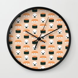 Salmon Dreams in peach, large Wall Clock