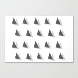 black and grey Canvas Print