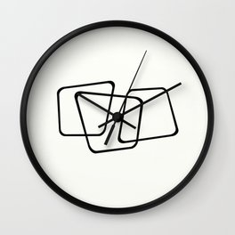 Simply Minimal - Black and white abstract Wall Clock