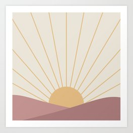 Morning Light - Pink Art Print