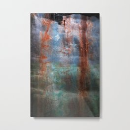 Prison Wall Waterfall Metal Print