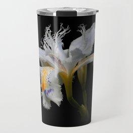 Elegant Iris Japonica / Fringed Iris Flower Travel Mug