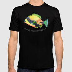 H is for Humuhumunukunukuapua'a MEDIUM Black Mens Fitted Tee