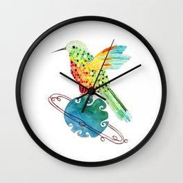 Hummingbird on Saturn Wall Clock
